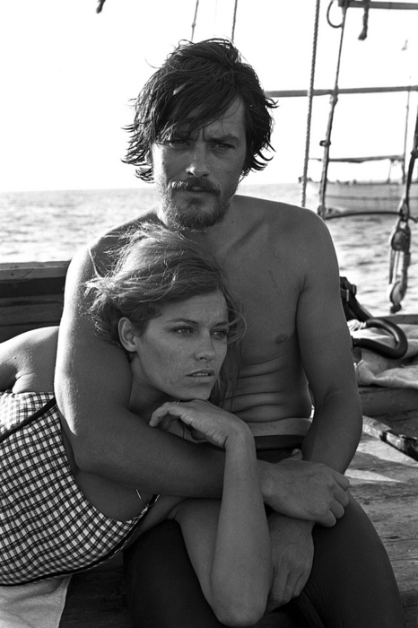 Alain Delon and his wife Nathalie