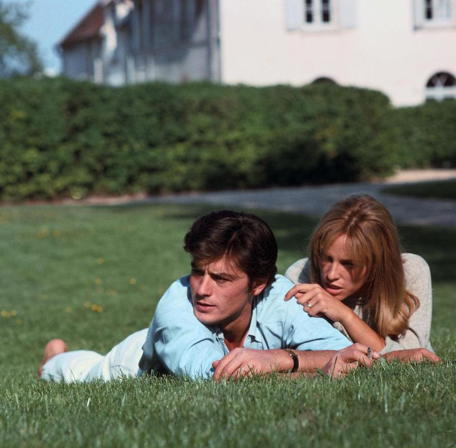 Alain Delon and his wife Nathalie1