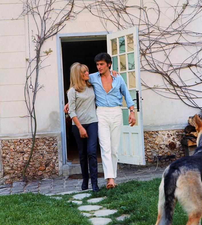 Alain Delon and his wife Nathalie3