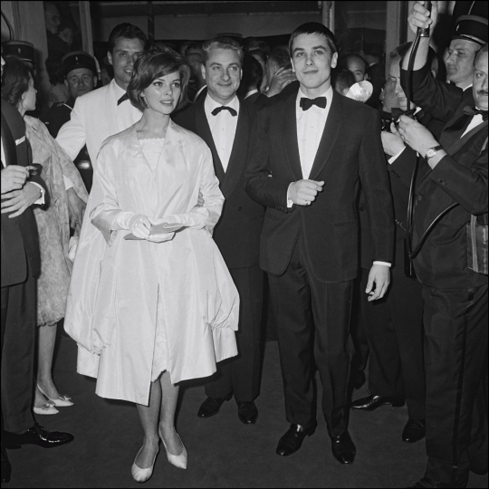 Alain-Delon-At-Cannes-in-1961