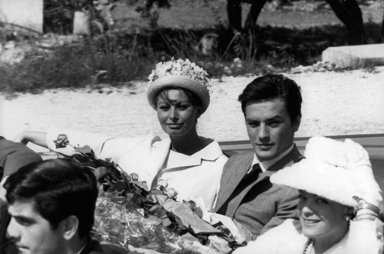 At Cannes with Romy and Sophia Loren in 1962