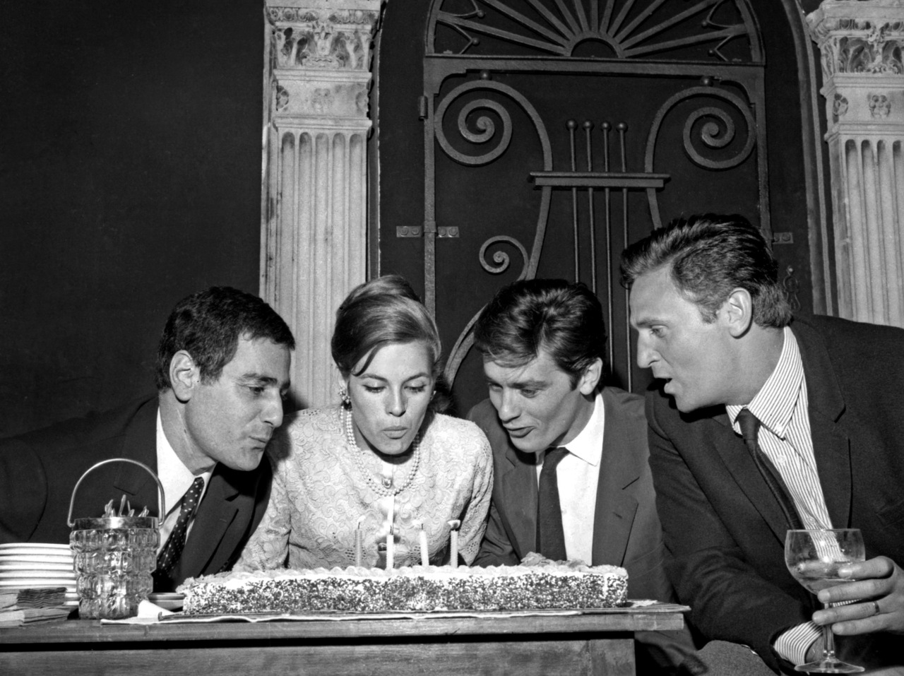 With Jean Delly, Nathalie and Roger Hanin, 1965.